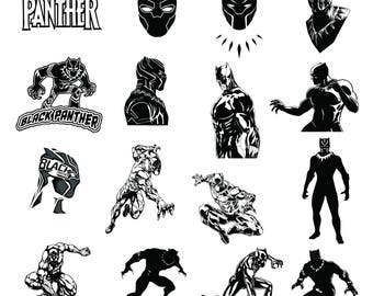 Black Panther Svg/Eps/Png/Jpg/Cliparts,Printable, Silhouette and Cricut File !!!