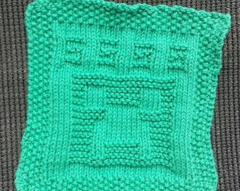 Minecraft Creeper Face Cloth / Dish Cloth