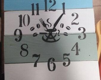 Homemade Shabby Chic Kitchen Wall Clock