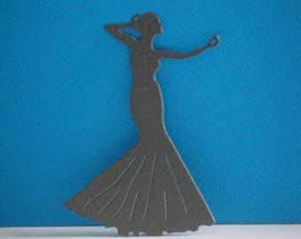 Cut gray tall dancer 7.6 cm width 5 cm for creation