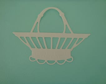 Cutting white basket of 7 cm for scrapbooking and card