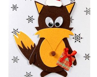 Christmas card / new year's Eve Fox Nicolas