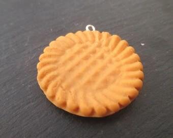 1 pendant biscuit porcelain cold 3.7 cm