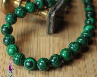 25 beads 8mm natural Malachite