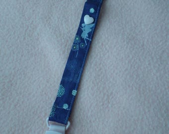 Fairytale theme fabric pacifier clip