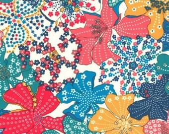 Fabric flower, liberty fabric liberty mauvey
