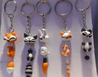 Keychain kawaii animals