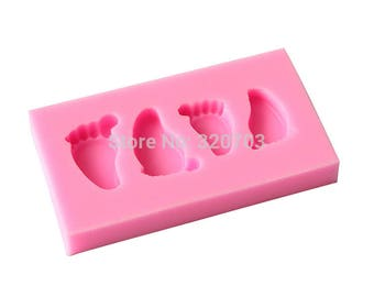 Silicone foot for polymer clay mold