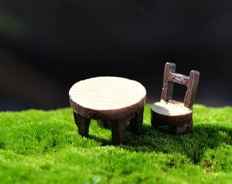 MINIATURE resin: set table 1 Chair