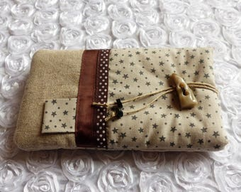 Cover Iphone 6 and smartphone linen and cotton stars