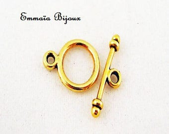 4 Toggle clasps in gold tone 10 mm