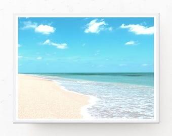 Beach Photograph Download - Beach Digital Download, Tropical Print, Beach Printable, Beach Wall Art, Beach Photo, Beach Printable, Tropical
