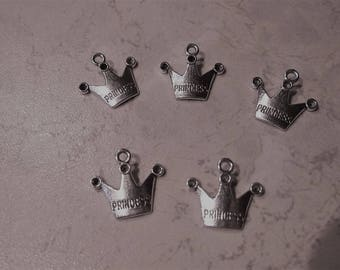 """Charms charm """"Crown"""" silver plated, brand new Princess."""