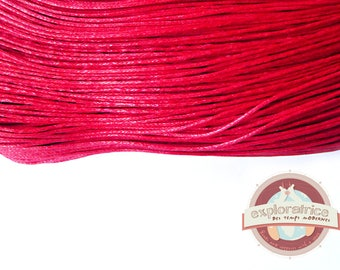 10 meters of link red waxed cotton cord 1 mm