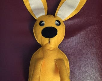 Tickle the Mo Willems yellow Bunny pet felt