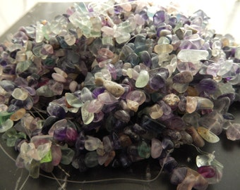 100 polished natural Fluorite chips