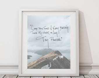 Come Thou Fount Wall Print | 8x10 Wall Art