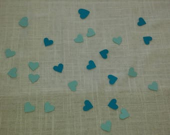 Blue table confetti
