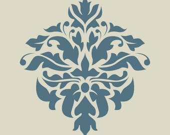 Damascus. Damask. Lace. Floral pattern. (Ref 183) adhesive vinyl stencil