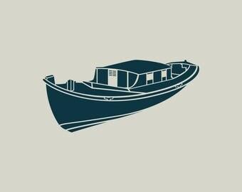Boat. Boat stencil. Stencil Arcachon. Stencil adhesive vinyl (ref 364)