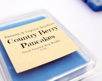 Country Berry Pancakes Wax Melt | Handmade Wax Tart | Country Berry Hotcakes Scented Wax Tart | Country Berry Candle | Pancakes Soy Wax Melt