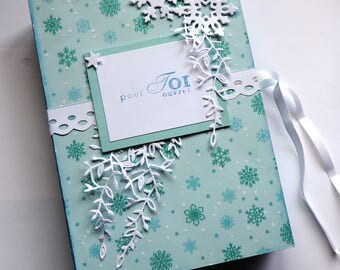 Card 2 in 1 box, faux book card to fill, handmade