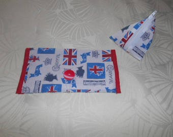 Set protects checkbook and coin box - English pattern - all cotton