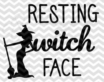 Resting Witch Face SVG files