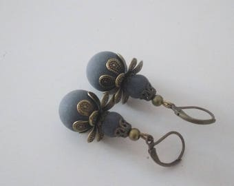 Lava Sicily velvety beads earrings.