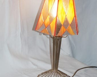 Lamp stained glass, wire to install, foot Glasmalerei lamp, Stained glass lamp