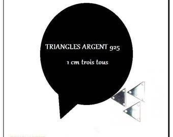 TRIANGLE 3 HOLE SILVER 925