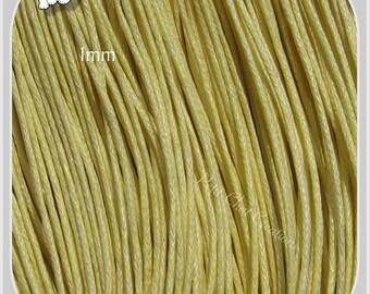 10 M of cotton waxed 1 mm yellow PASTEL necklace bracelet necklaces * C162