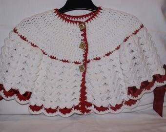 Burgundy and white bra
