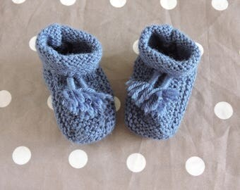 Blue baby shoes 0/3 months