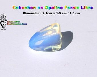 Cabochon Opal Opalescente of irregular shape of 2.1 cm x 2.1 cm / 1.3 cm - item #9