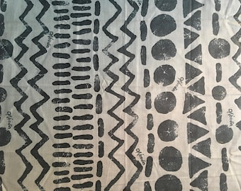 """1 coupon wax African Woodin """"Graphics"""" - 50 x 48 cm"""