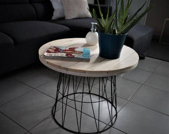 Recycled Metal and wood coffee table