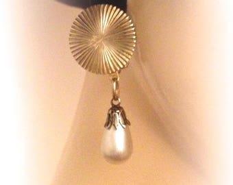 Vintage clip earrings designer art deco inspired