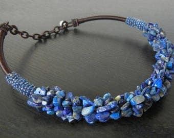 Necklace Lapis Lazuli adjustable 40 / 46CM