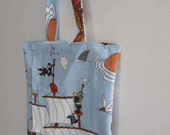 Kids bag pirates 25 x 30 cm/handbag taste fabric/shoulder bag