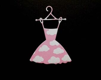 1 cut scrapbooking dress cloud Princess baby birth scrapbooking embellishment die cut scrap album deco