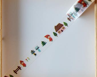 "Washi tape - ""Little Red Riding Hood"" - 1.5 cm x 10 m"