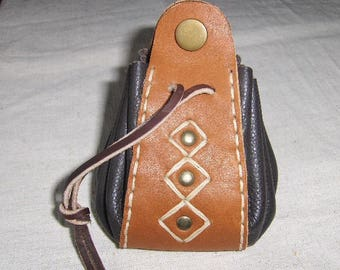 Medieval fantasy leather purse