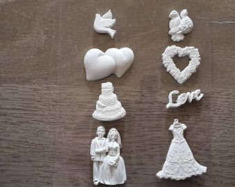 Theme wedding plaster figurines