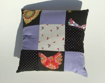 Colorful patchwork cushion