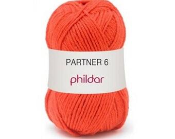 phildar wool partner wool 6 vermilion colors
