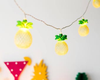 Garland deco bright pineapple tropical party or decoration