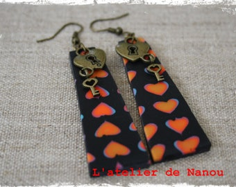 "polymer clay earrings ""love for all"""