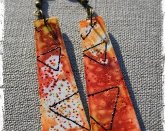 """""""winter sun"""" polymer clay earrings"""