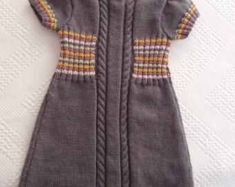 Dress 4 years old in purple wool